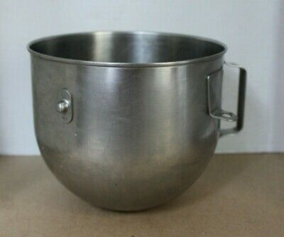 Used 5-quart Stainless Steel Bowl For Hobart Kitchenaid Commercial Mixer