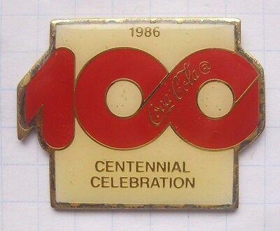 1986 / COCA-COLA / 100-JÄHRIGEN SATZ ..................... Pin (138d)