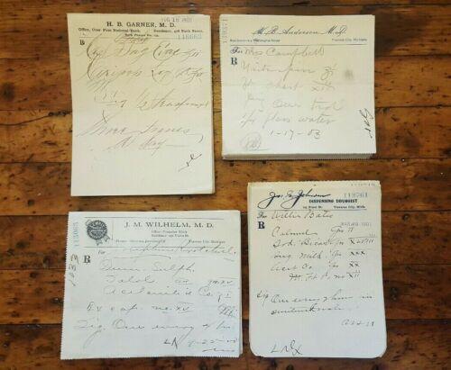 Lot of 200+ Antique Rx Doctor Prescriptions Druggist Forms C1900-1903 Obsolete