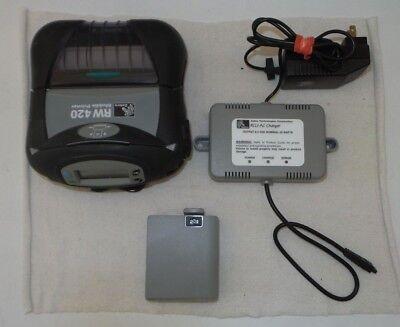 Zebra RW420 Mobile Printer with Bluetooth, WiFi & Mag Strip P/N:R4A-0ULA010N-00 for sale  Lithonia