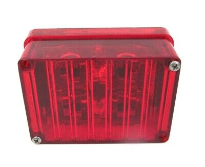 Tomar Electronics 4 Led Red Brake Light Rect-34clws-r Short Cable