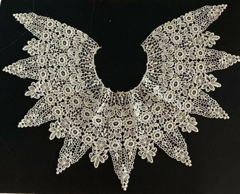 "Antique 19th Century Victorian Handmade 29"" Lace Collar"