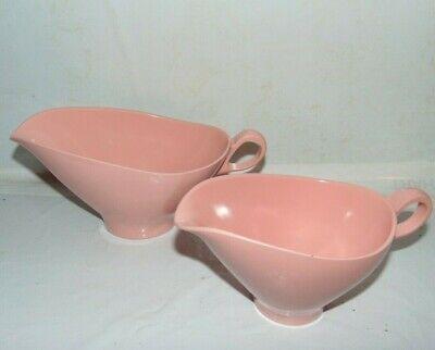 Boonton Ware Gravy Boat and Creamer Melmac Pink