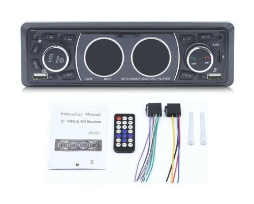 Car Stereo Receiver With Bluetooth Single Din Universal Car Radio USB Wireless - $27.99