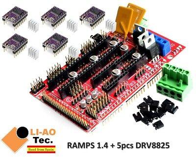 Ramps 1.4 Control Panel Reprap Mendelprusa 5pcs Drv8825 Stepper Motor Drive