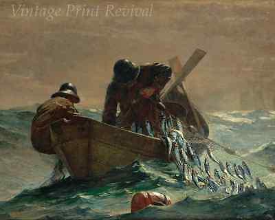 Herring Net by Winslow Homer - Fishermen Boat Sea Ocean Catch 8x10 Print 1267