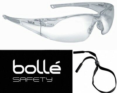 Anti Fog Safety Glasses - Bolle 40070 Rush Safety Glasses with Clear Anti-Scratch and Anti-Fog Lens