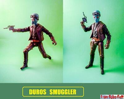 custom Star Wars DUROS SMUGGLER cantina rogue jedi sith diorama solo force rebel