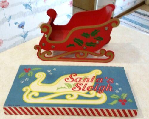 Vintage Folding Wooden Santa