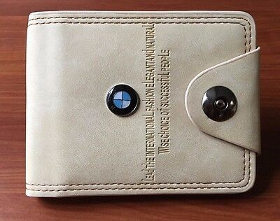 New 2017 BMW Leather Bifold Men's Wallet and Credit Card ID Holder