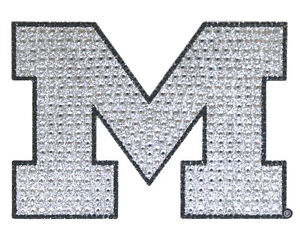 Michigan wolverines bling auto emblem new ncaa car decal for Michigan coloring pages