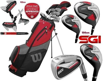 Wilson Prostaff SGI Graphit Complete Golf Club Set & Prostaff 2020 Stand Bag New