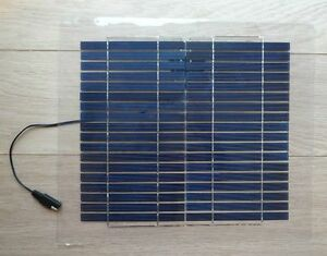 10w Semi Flexible Light Weight Solar Panel For Charging