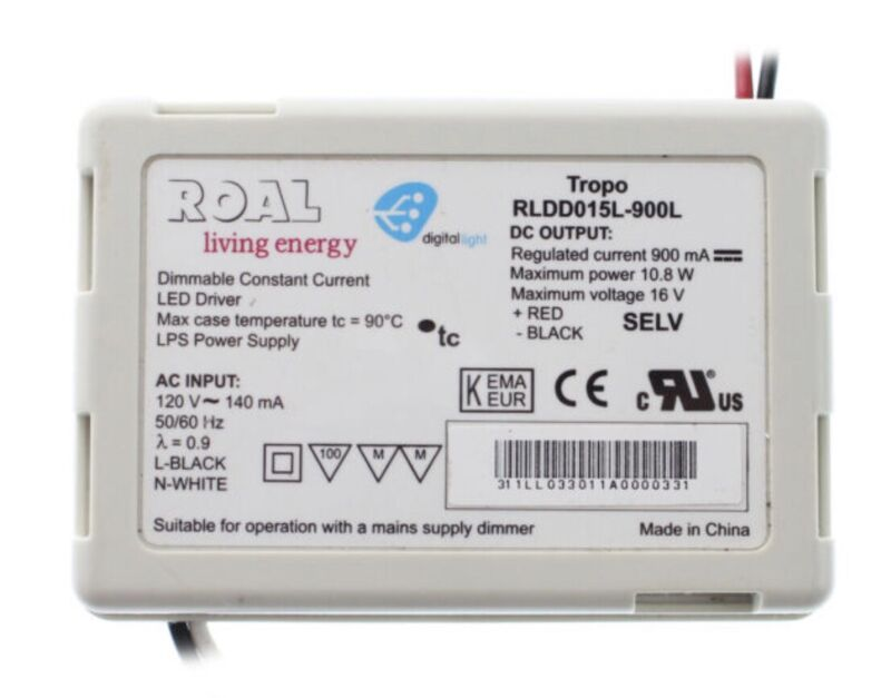 ROAL RLDD015L-350 DIMMABLE LED-DRIVER NEW IN BOX