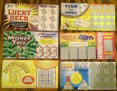 6 Fake All Winning Phony Scratch Off Prank Lottery Tickets   Gag Gift   Joke