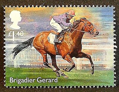 "Racehorse Legend ""Brigadier Gerard"" illustrated on 2017 stamp - Unmounted mint"