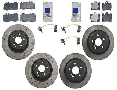 For Mercedes W220 S500 00-02 AMG Economic Complete Brake KIT Rotors Pads Sensors