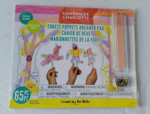 Handmade Charlotte Kids Forest Puppets Dreamer Pad 65pc 5+ SEALED