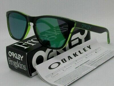 NEW OAKLEY FROGSKINS Eclipse Collection Green Jade Iridium Sunglasses OO 9013-A8