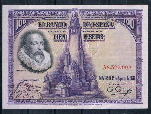 SPAIN-BANKNOTE     - 100  PESETAS 1928- XF++  pick76a