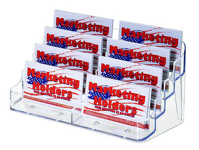 50 CLEAR 8 EIGHT POCKET BUSINESS CARD HOLDERS STAND