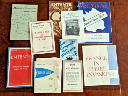 WWII French Resistance Entente Africa Charles De Gaulle Free France Ephemera