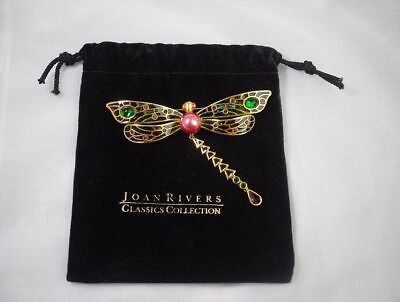 JOAN RIVERS Classic Collection Art Nouveau Style Dragonfly Brooch