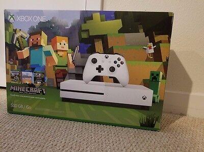 Microsoft Xbox One S Minecraft Favorites Bundle 500Gb White Console   Stand