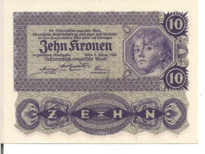 AUSTRIA, 10 KRONEN, P#75, 1922 , UNC