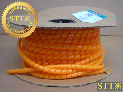 T50f-c3y Panduit Spiral Wrap .50 In X 100 Ft Polyethylene Orange New