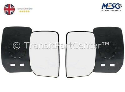 A PAIR OF DOOR WING MIRROR GLASS FORD TRANSIT MK6 MK7 2000 2014 RIGHT  LEFT