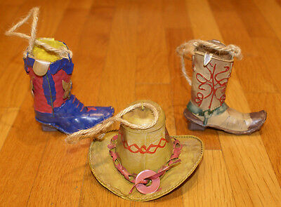 Cowboy Western Cowboy Hat Boots Christmas Ornaments - Collectible Unique Gift](Western Christmas Ornaments)