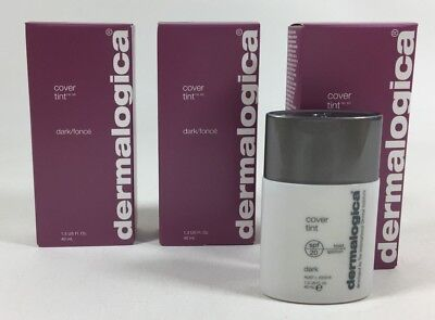 (3X) Dermalogica Cover Tint SPF 20 Dark 1.3 Fl Oz. Best by 4/15 * NIB New In