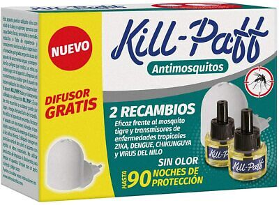 Kill Paff - Insecticida Eléctrico Antimosquitos, Eficaz Contra Mosquito Tigre
