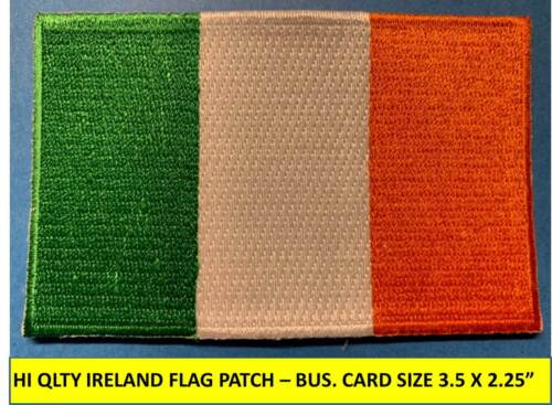 """IRISH IRELAND FLAG PATCH IRON-ON SEW-ON EMBROIDERED APPLIQUE(3½ x 2¼"""")- HI QLTY!"""