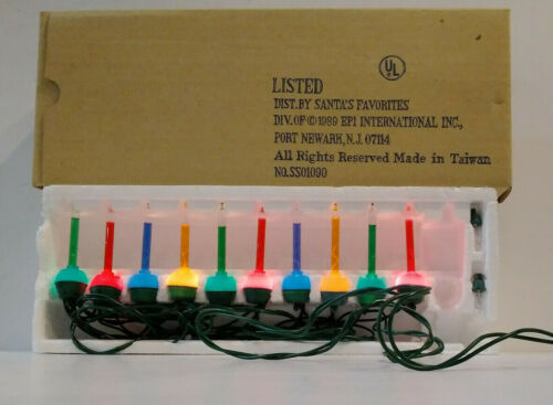 Vintage String of 10 Bubble Lights ~ New ~ Old Store Stock ~ Working!  MG