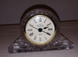 Badash Crystal Clock Desk Mantle Gift