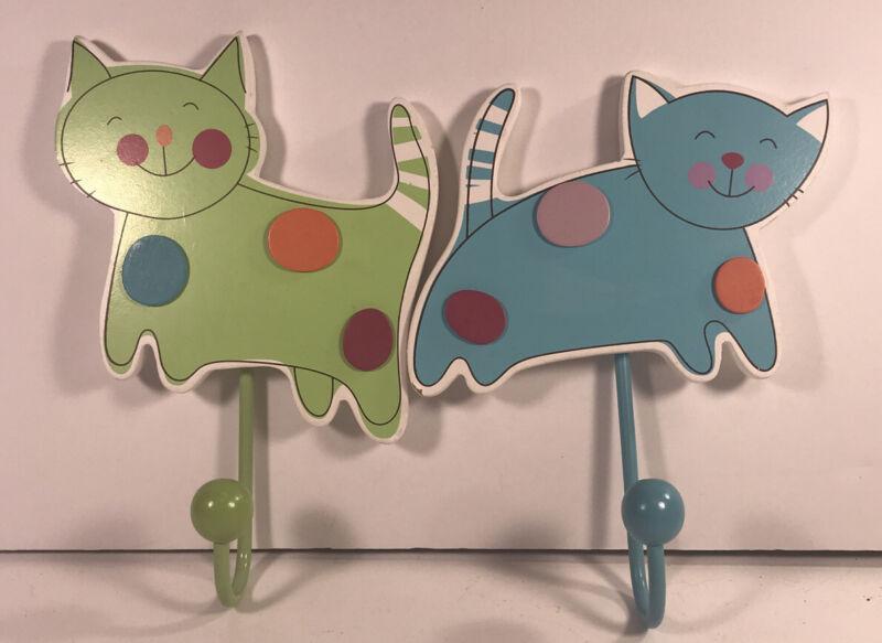 Cute Everglow Wall Hooks Cat Shaped Child's Room Decor Nursery