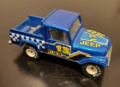 1982 Hot Wheels Jeep Scrambler Real Riders - Blue- White Hubs - Loose