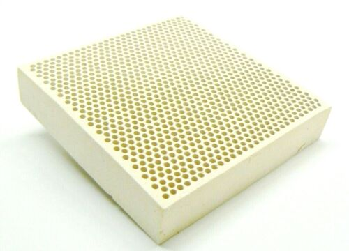 """Ceramic Honeycomb Block Soldering Plate with Holes Jewelry Heat Board 4"""" x 4"""""""