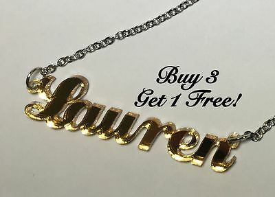 Name Necklace Acrylic Personalized - Buy 3 get 1 FREE - FREE Shipping  22 Colors New Name Necklace