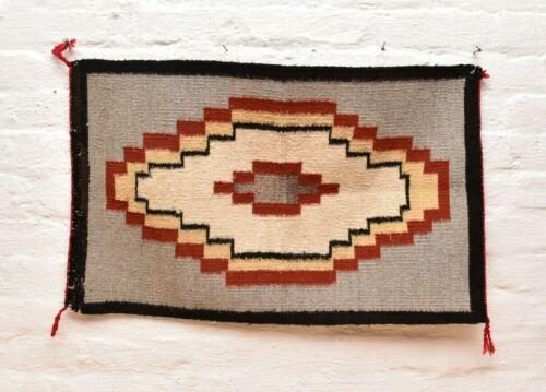 Vintage Navajo Blanket Rug native american indian Transitional Antique 29x18