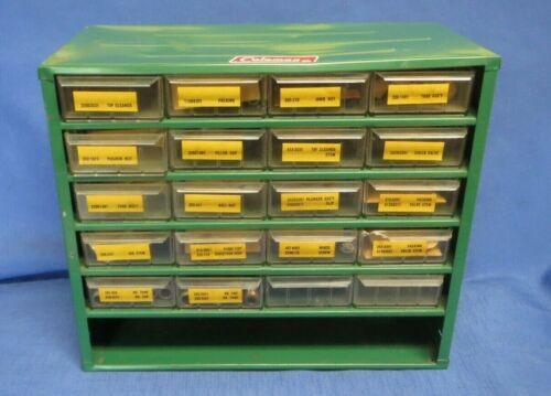 Vintage Coleman Lantern Dealer Parts Cabinet