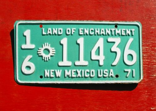 1971 New Mexico Nice Original TRUCK 16-11436 License Plate