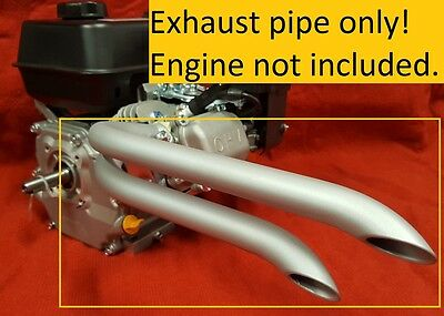 Mini Bike Custom Dual sideways exhaust Header Pipe for Predator 212cc  & 79cc