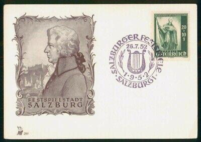 MayfairStamps Austria 1952 Salzburg Festival Music Cover wwo48819