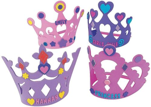 12 Foam Princess Crowns - Crafts for Kids and Fun Home Activities