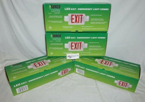 Sunco Lighting - Exit/Emergency LED Light Combo (4 Pack)