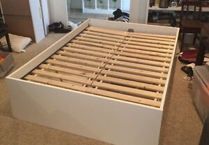 Double bed frame with 4 drawers - Ikea Skorva Roseville Ku-ring-gai Area Preview