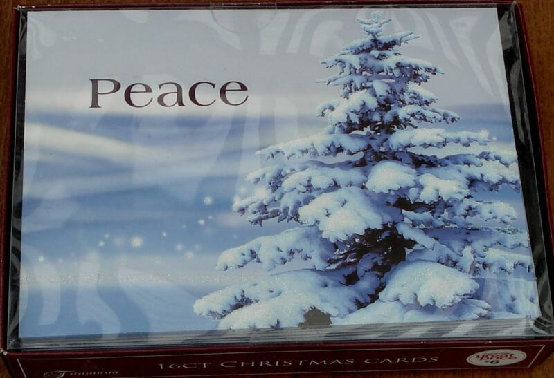 Trimming Traditions 16ct Christmas Cards with Envelopes - Peace - NEW